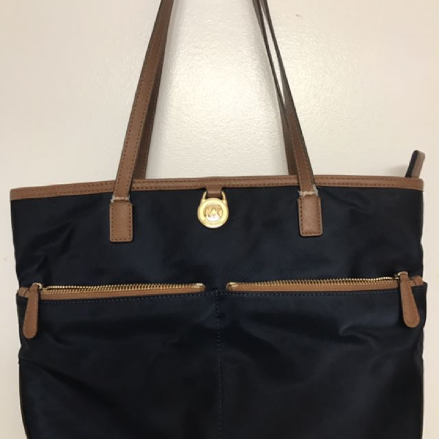 MK navy blue shoulder purse