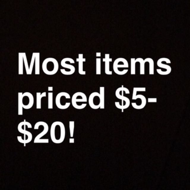 MOST ITEMS $5-$20