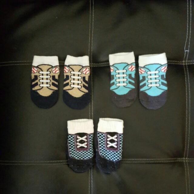 Baby boy newborn shoe socks