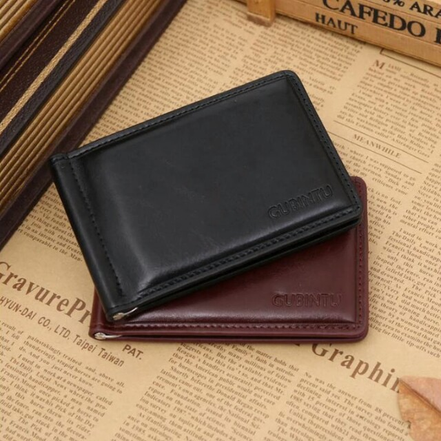 65a54f798434 New Fashion GUBINTU Brand small money clip wallet with money bag magnet  hasp mini PU leather purse for man, Men's Fashion, Bags & Wallets on  Carousell