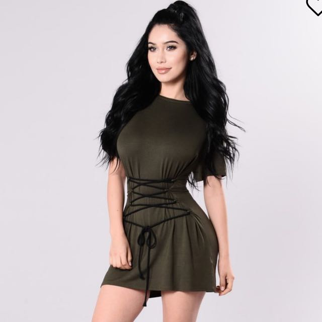 Olive Corset Dress