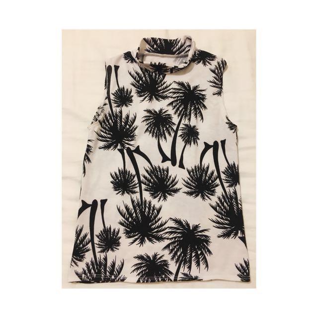 Palm Tree Print Top