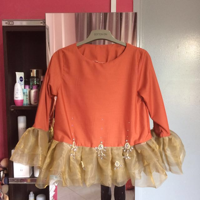 Pansy.co Zara Nude Beads Organza Top