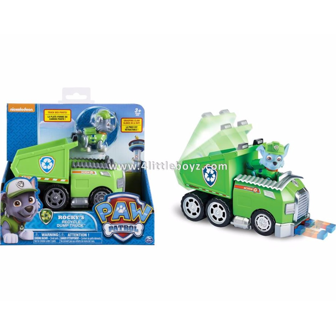 Paw Patrol Rocky S Recycle Dump Truck Vehicle With Rocky Figure Novelty Games