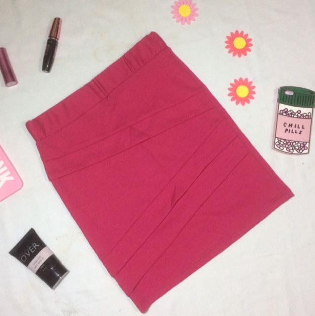 Pink Skinny Skirt