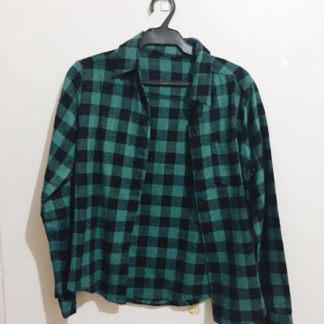 Plaid Green Long Sleeves