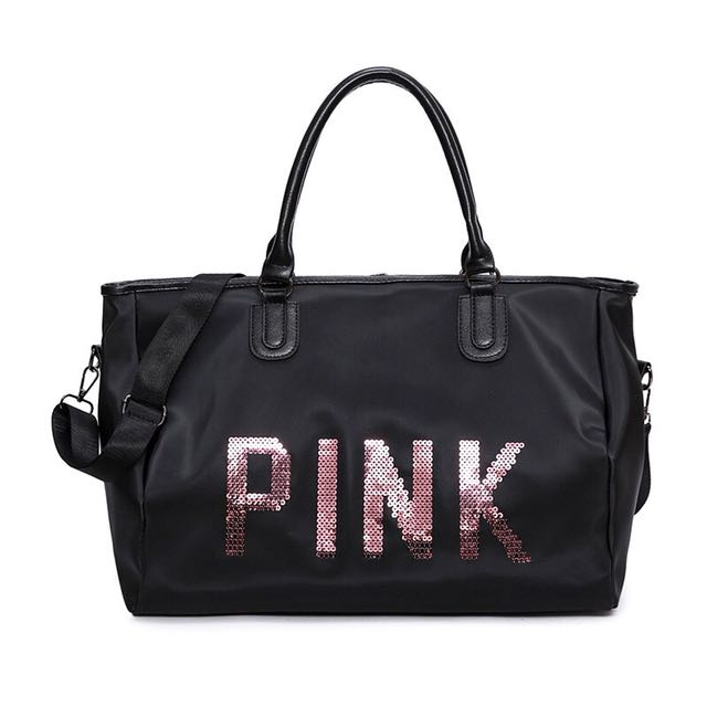 🔥READY STOCK🔥VICTORIA SECRET DESIGN PINK TRAVEL SPORT BAG QUALITY
