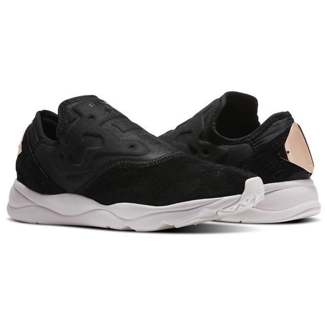 Reebok Furylite Graphic Pack Floral-Black White Porcelain Pink Womens Shoes  (RBK1822). S$459. REEBOK FURYLITE SLIP ON FBT Size US 5
