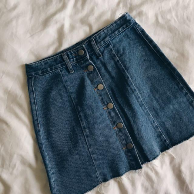 REI shop牛仔裙