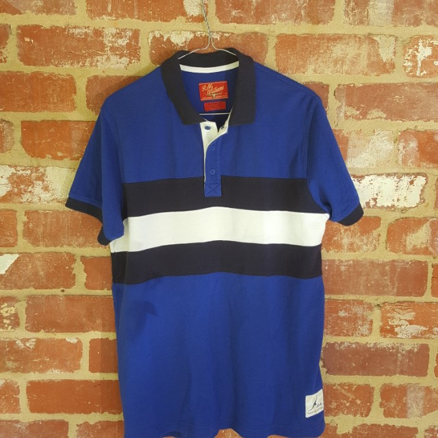 RM Williams Blue Polo Shirt S and M