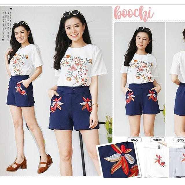 Short pants embroidery