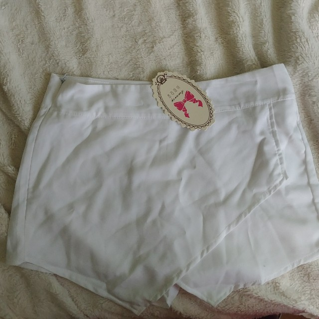 Skort short skirt white medium free with $20+ purchase