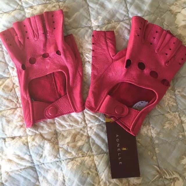 Soft lamb skin leather glove