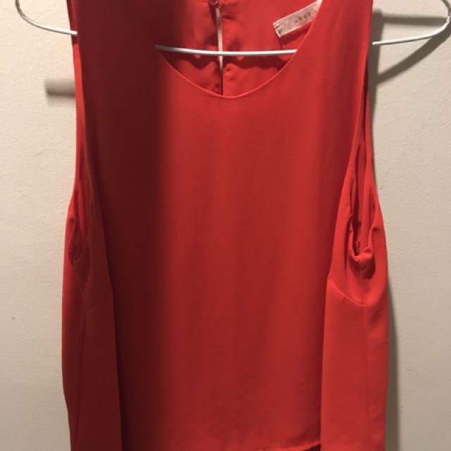 Summer red blouse