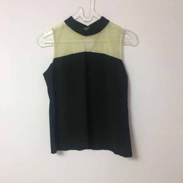Tank top tile hitam