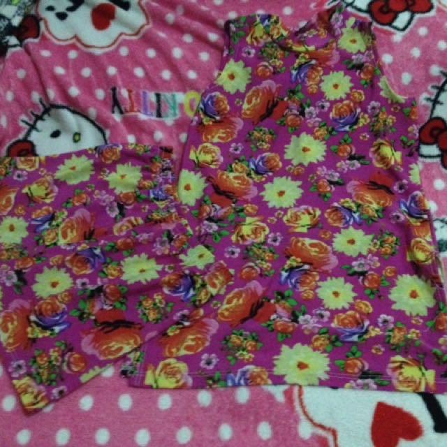 Terno floral cutie