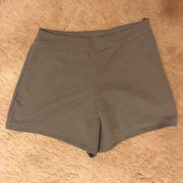 Textured Patterned Shorts
