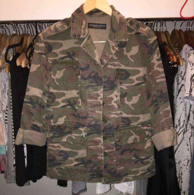 Topshop Camo Jacket