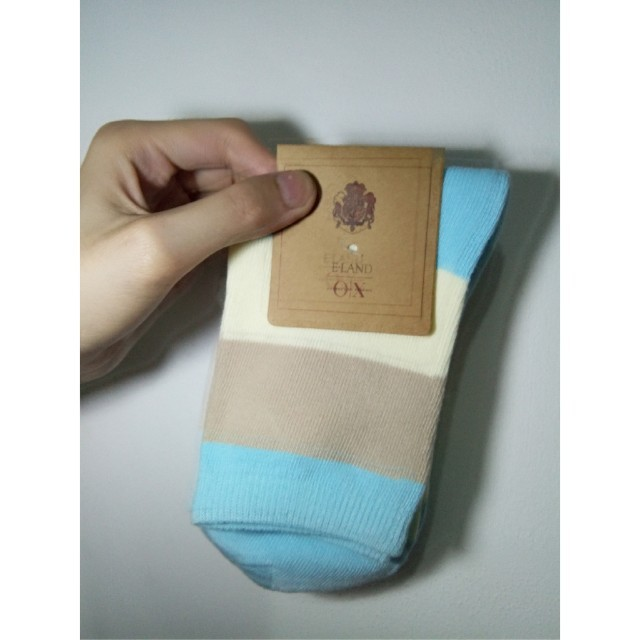 Tri Pastel Color Unisex Korean Socks