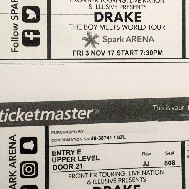 Two Amazing seats for Drake Concert on Friday