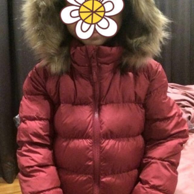 66ff94ae3414 Uniqlo warm padded winter jacket Size 120 kids children (BN without ...