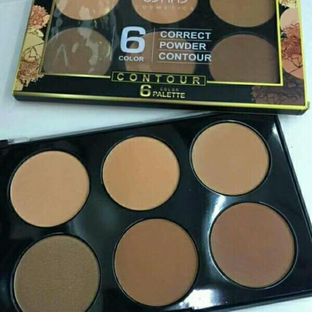 USHAS 6 Color Correct Powder Contour