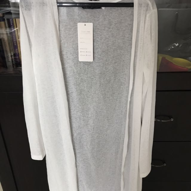 White cardigan import