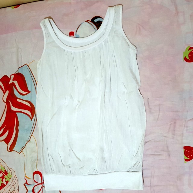 White Sando Blouse