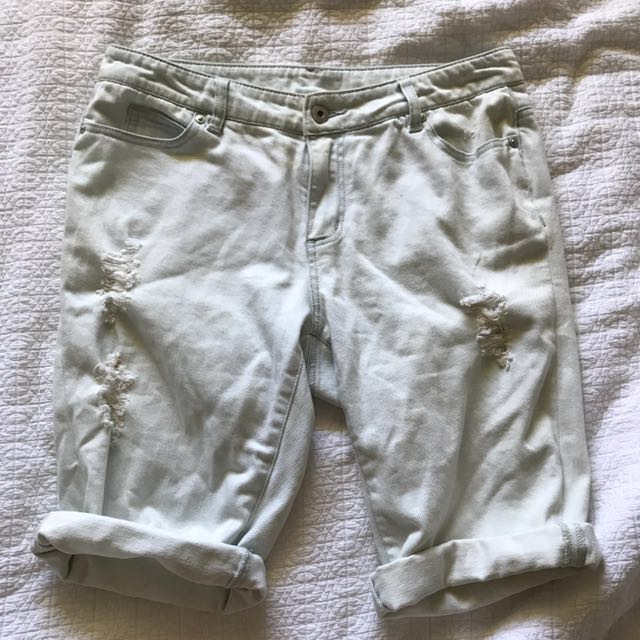 Witchery distressed short crop jeans pants size 8