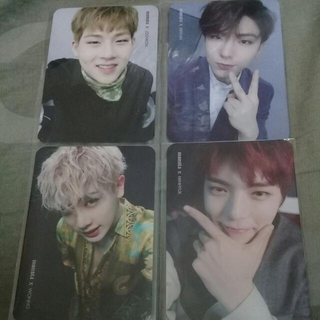 WTS MONSTA X PHOTOCARDS