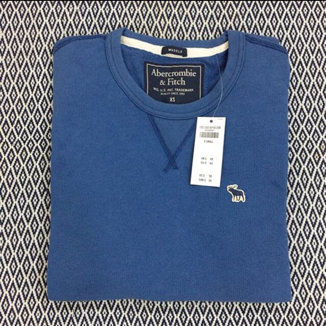 (XS) Authentic A&F Icon Textured Crew Sweatshirt