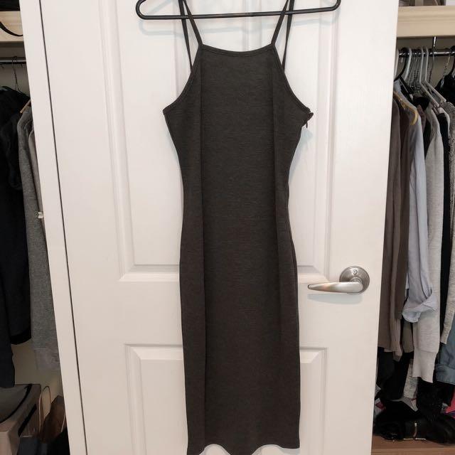Zalora Grey Midi Dress