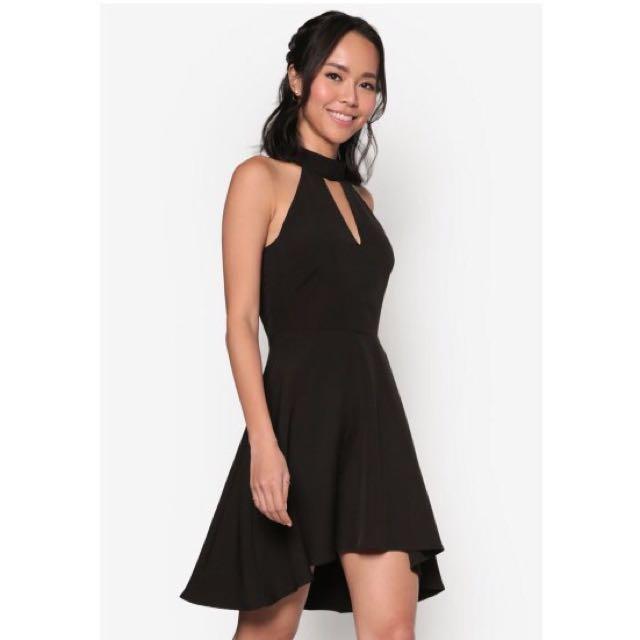Zalora Keyhole Fit & Flare Dress