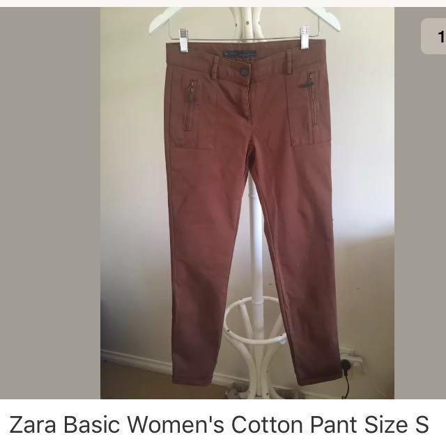 Zara Women's Cotton Pant Size S