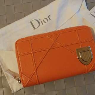 Brand New Dior Diorama medium lamb skin wallet