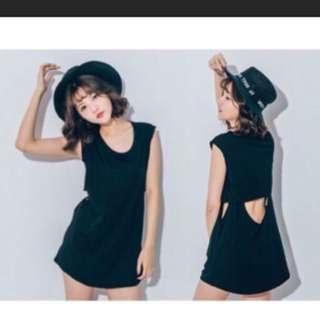 黑色簍空上衣 黑暗系 個性服飾