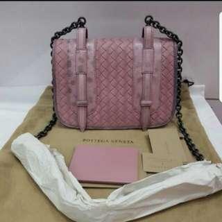 auth brand new bottega pink sling bag