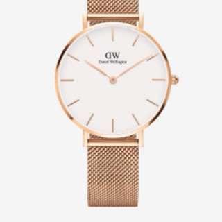 🚚 DW 手錶 金錶