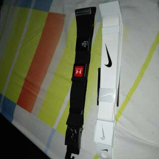 Nike and under amour belt