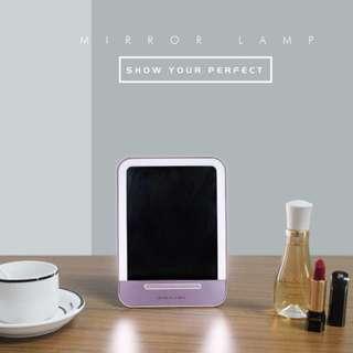 觸控式平板USB充電發光化妝鏡(禮盒裝)