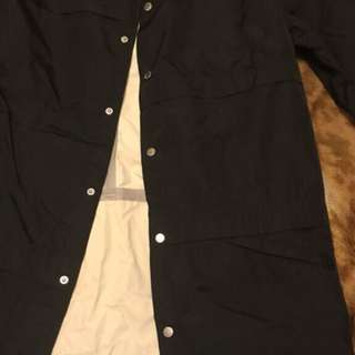 Black crooks and castles button up jacket