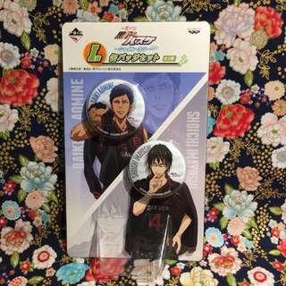 [Daiki Aomine and Shouichi Imayoshi] I Prize Badge Set, 2013 Shiny Color Ichiban Kuji (from Kuroko no Basuke)