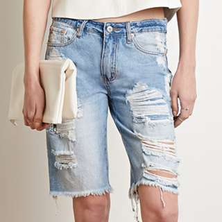 F21 Distressed Shorts