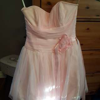 Blush pink womens formal dress