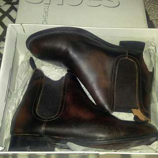Topshop boots - chocolate