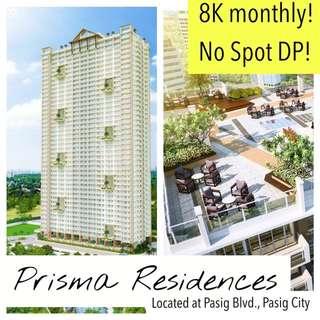 1BR CONDO UNIT | PRISMA RESIDENCES located at Pasig Blvd., Pasig City | NO SPOT DOWNPAYMENT