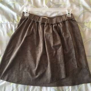 Suede skirt from Aritzia