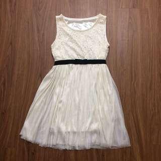 Cream Coloured Lace Dress