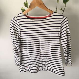 Joules striped crew top