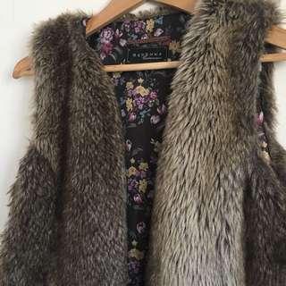 Bershka Faux Fur Vest